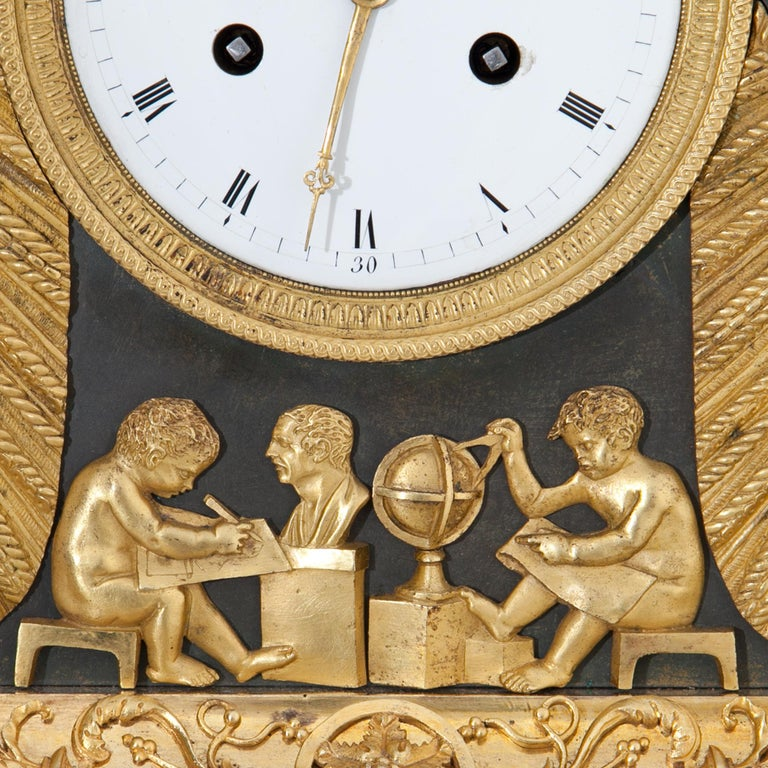 Empire Pendule with Allegory of Sciences, Mallot & Cie, Paris Late 18th Century For Sale 12