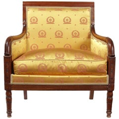 Early 19th Century Empire Period Carved Mahogany Marquise