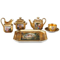 Empire Porcelain Coffee Service with Mythological Scenes