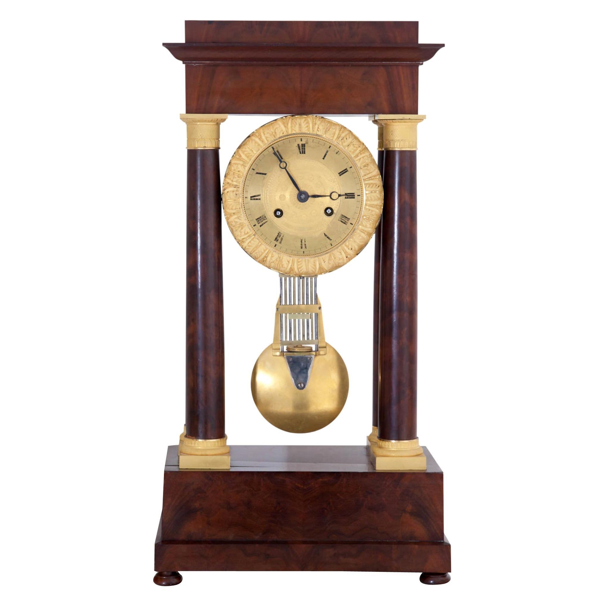 Empire Portal Clock, France, Early 19th Century