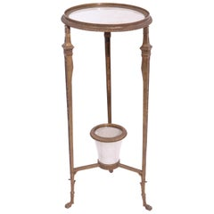 Empire Revival Style Gueridon Bronze Pedestal Table With Planter