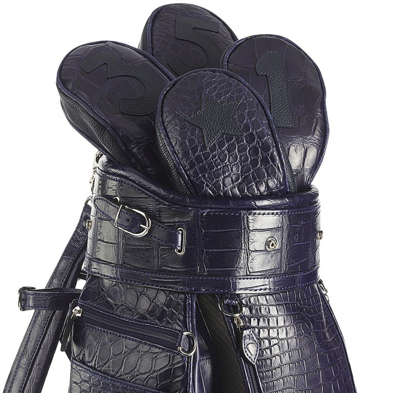 Modern Empire Royal Blue Golf Bag by Barchi For Sale