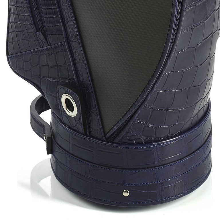 Italian Empire Royal Blue Golf Bag by Barchi For Sale
