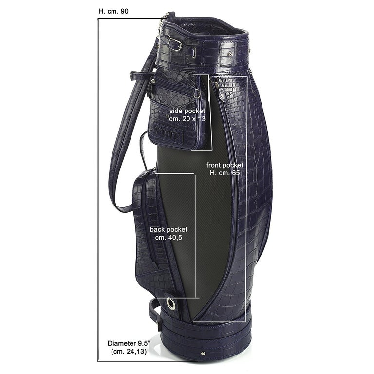 Empire Royal Blue Golf Bag by Barchi In New Condition For Sale In Milan, IT