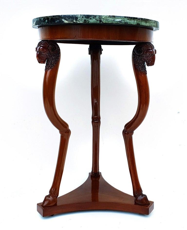 Marble Empire Side Table/Gueridon, Paris, 1810s For Sale