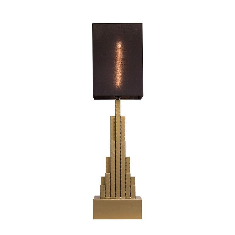 Empire State Table Lamp in matt Gold Finish