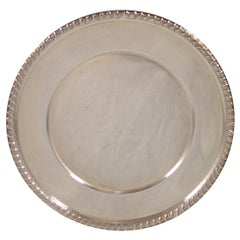 Empire Sterling Silver Bread and Butter Plate Gadroon Style Border