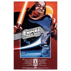 """The Empire Strikes Back"" 1990r Poster"