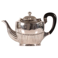 Empire Style 1918 Genuine Silver Teapot and Solid Ebony Handle by August Thomsen