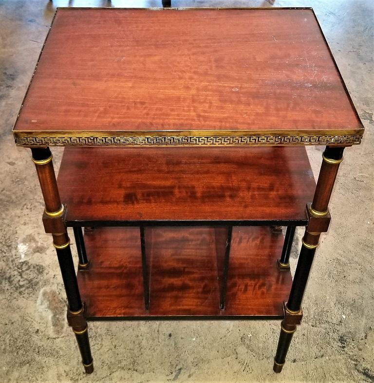 American Empire Style Canterbury Side Table For Sale