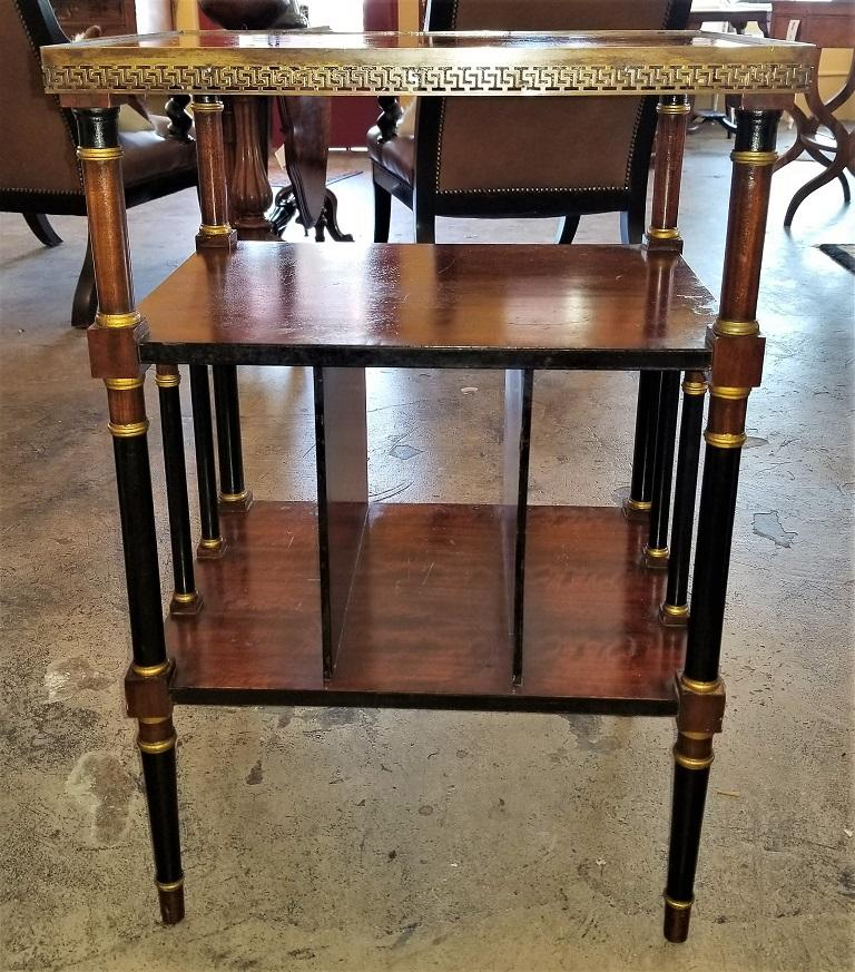 Hand-Crafted Empire Style Canterbury Side Table For Sale