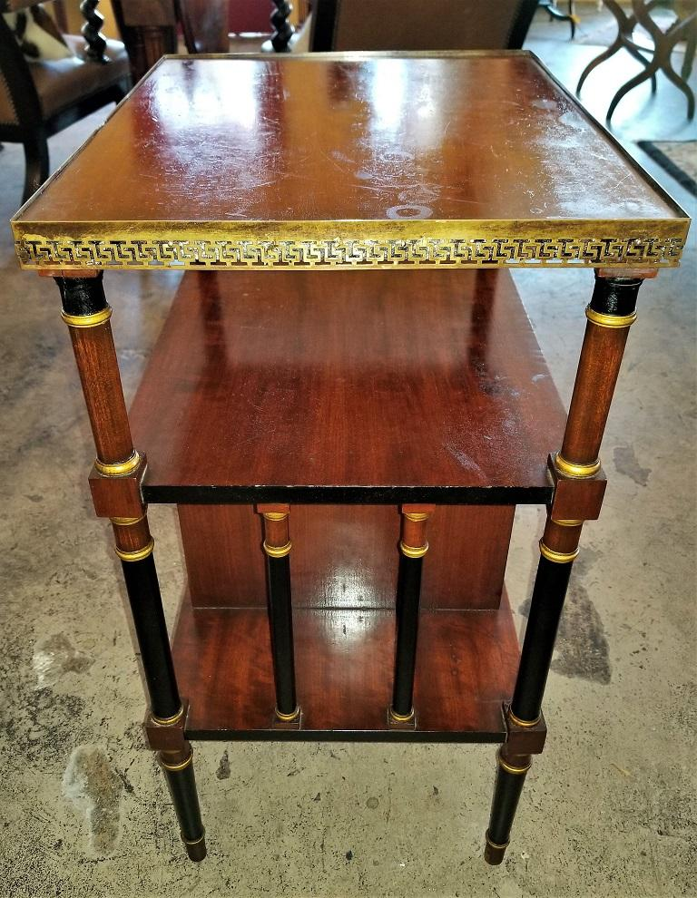 Empire Style Canterbury Side Table In Good Condition For Sale In Dallas, TX