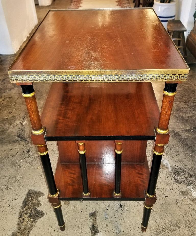 20th Century Empire Style Canterbury Side Table For Sale
