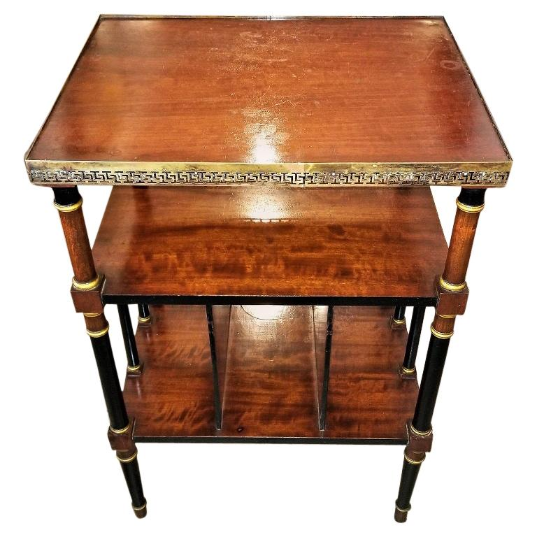 Empire Style Canterbury Side Table For Sale