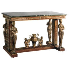 Empire Style Centre Table with Marble Top after Jacob-Desmalter, French