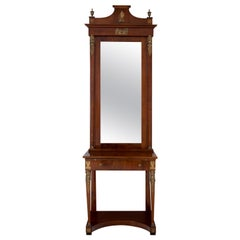 Empire Style Console Mirror, Second Half of the 19th Century