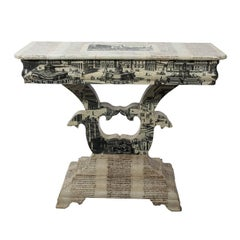 Empire Style Decoupage Game Table