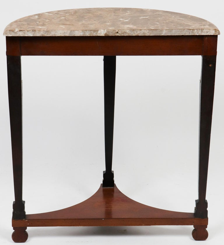 20th Century Empire Style Demilune Console Table