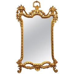 Empire Style Gilded Tole Toleware Mirror Vintage, Italy, 1950s