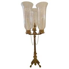 Empire Style Gilt Bronze Table Lamp