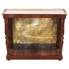 Empire Style Gilt Metal Mounted Mirrored Console
