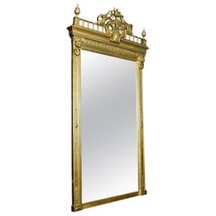 Empire Style Giltwood and Composition Pier Mirror