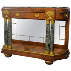 Empire Style Green Marble-Top Console Table