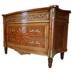 Empire Style Inlaid Chest of Drawers, 20th Century