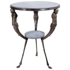 Empire-Style Iron Table, Probably Naples, circa 1900