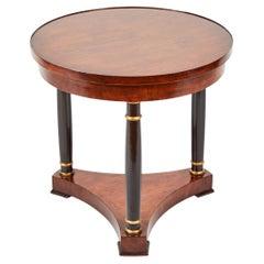 Empire Style Mahogany and Ebonized Side Table