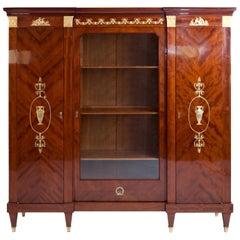 Empire Style Mahogany Bookcase, Probably, France, circa 1900