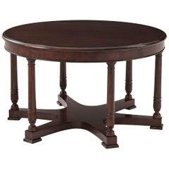 Empire Style Mahogany Center Table