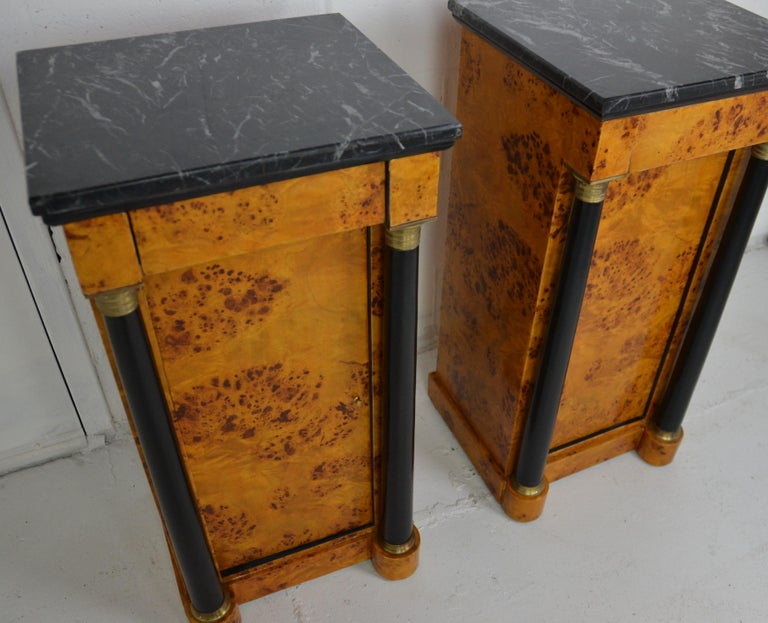 Late 20th Century Empire Style Nightstands For Sale