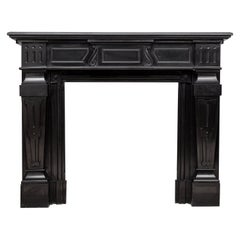 Empire Style Noir de Mazy Black Marble Antique Fireplace