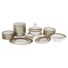 Empire Style Porcelain Dinner Set for 12 Persons by Richard Ginori