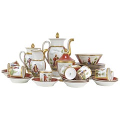 Empire Style Porcelaine Tea and Coffee Service