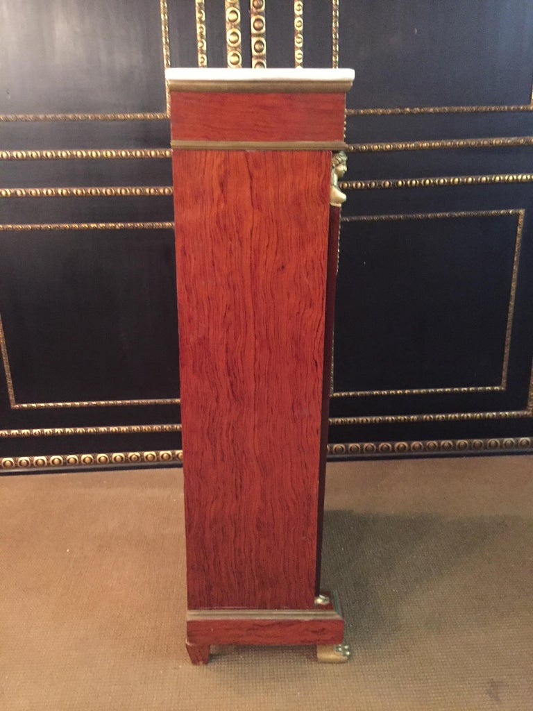Empire Style Secretary with Brass and Marble Top For Sale 12