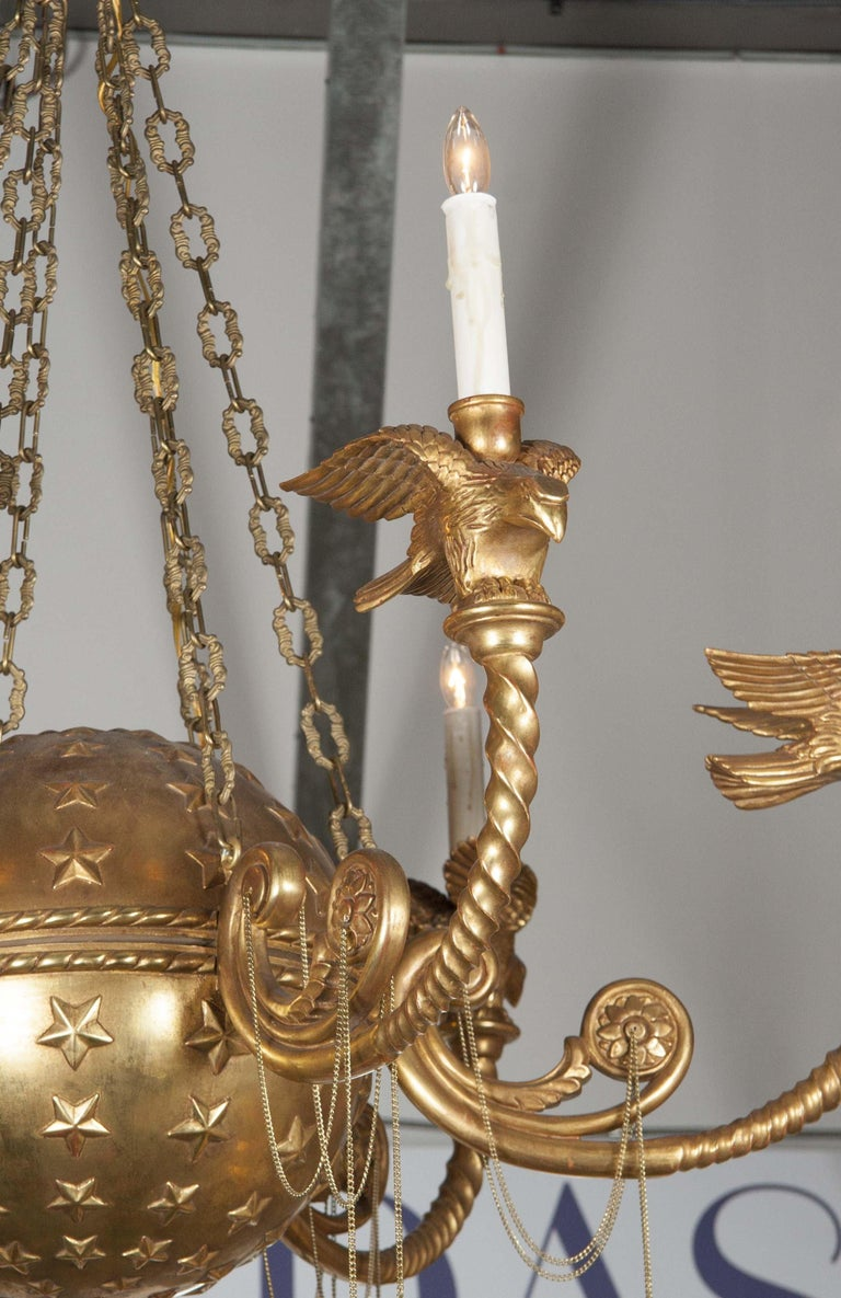 Empire Style Six-Light Chandelier For Sale 3