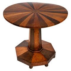 "Empire Style ""Specimen"" Wood Round Table"