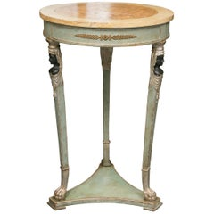 Empire Style Table with Sphinx Supports Side Table