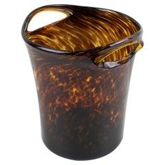 Empoli for Christian Dior Tortoiseshell Glass Champagne Ice Bucket Wine Cooler