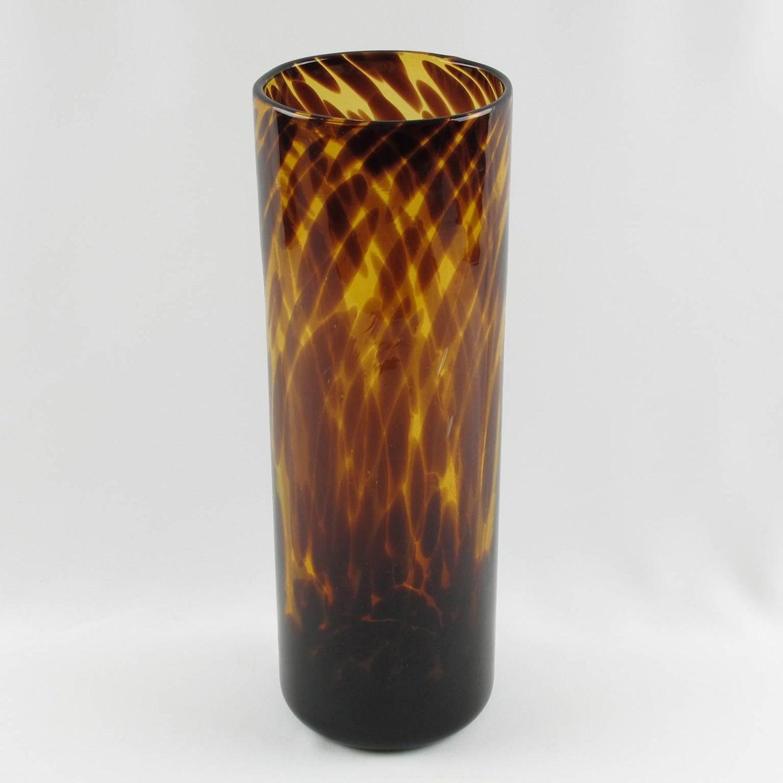 Empoli For Christian Dior Tortoiseshell Glass Tumbler Vase For Sale