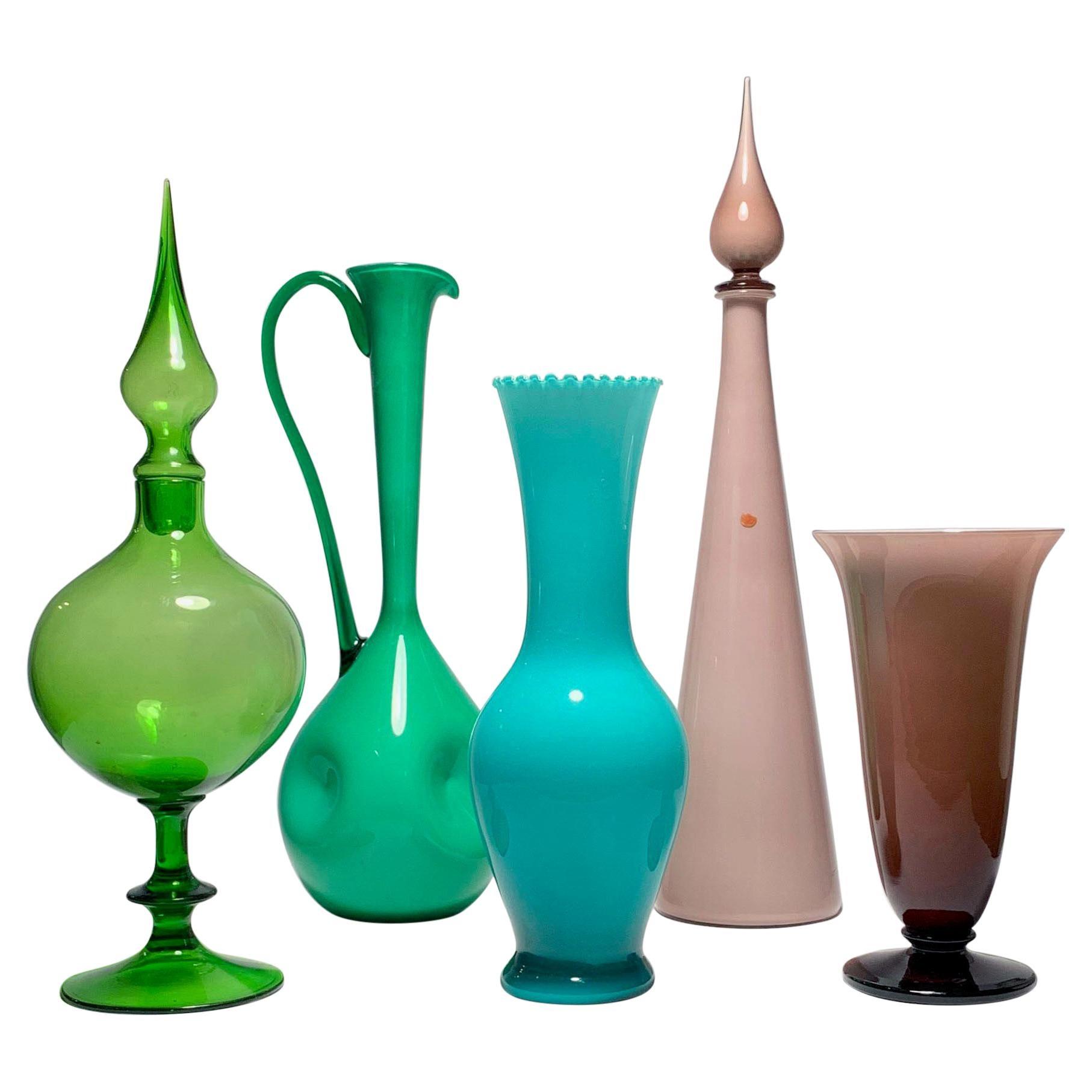 Empoli Italian Glass 5 Piece Collection
