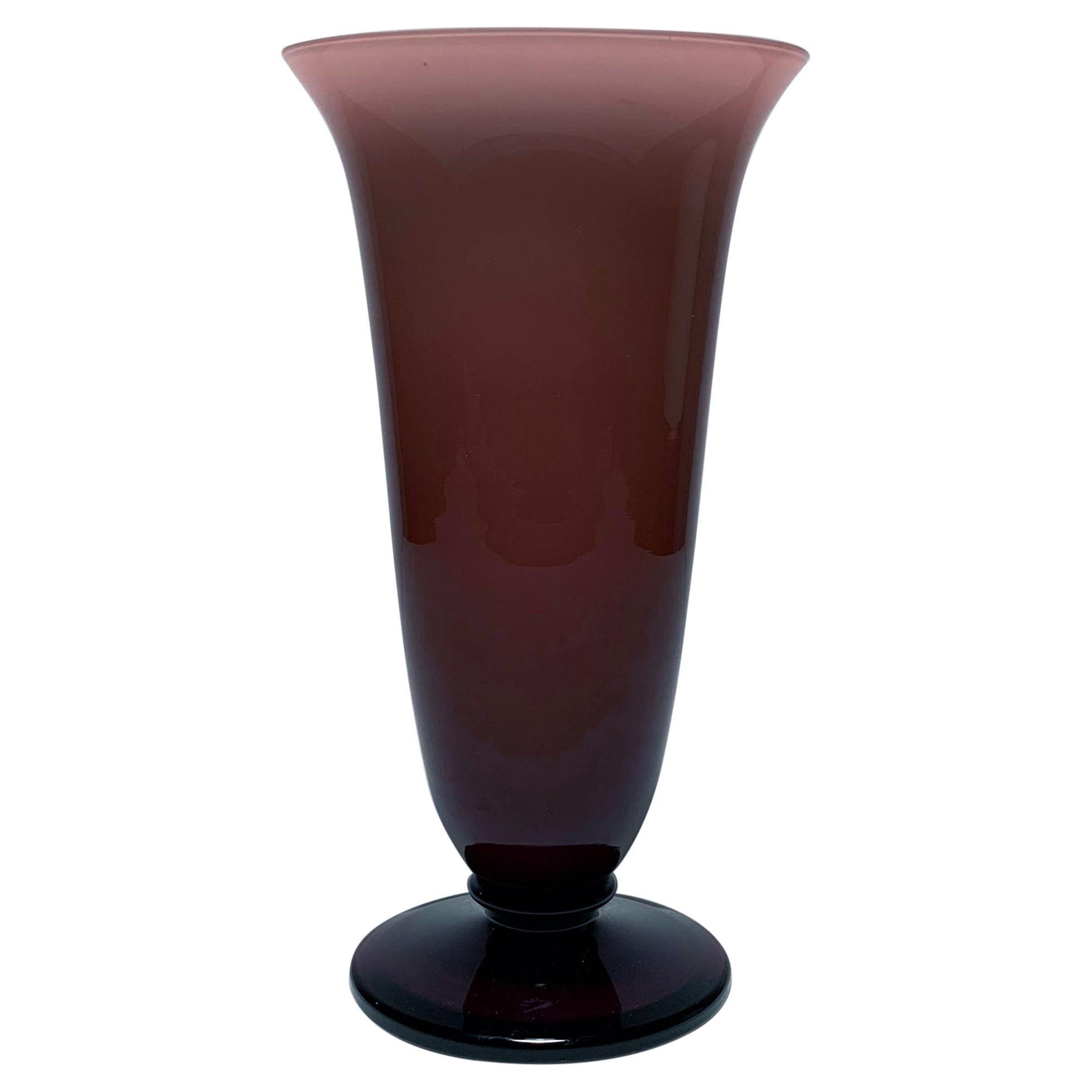Empoli Italian Glass Grape Purple Vase