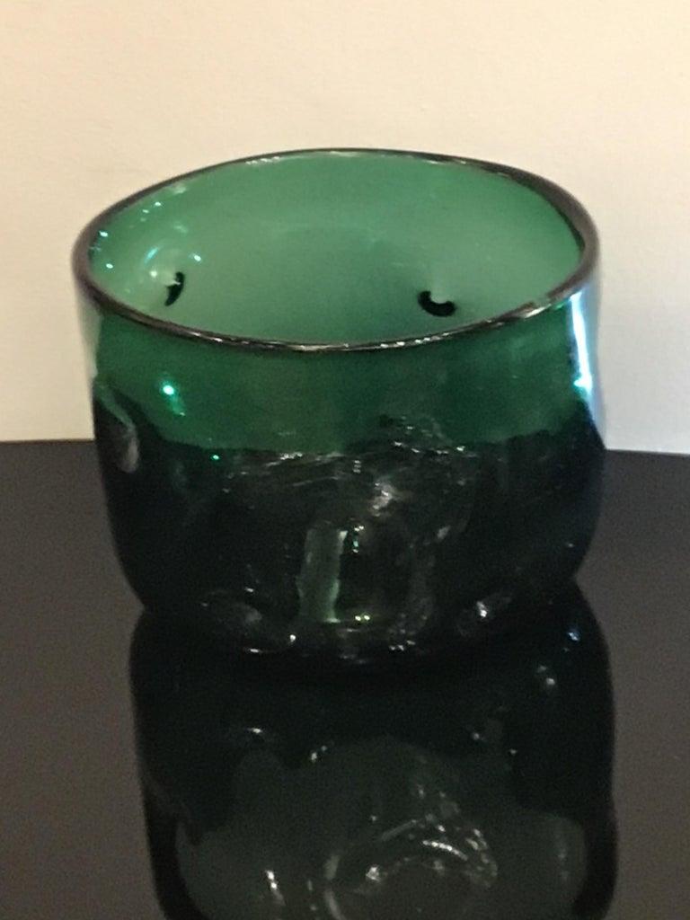 Empoli Vase Glass Murano Green, 1950, Italy For Sale 4