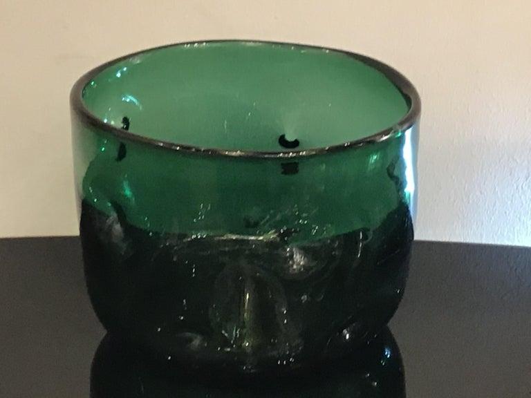 Empoli Vase Glass Murano Green, 1950, Italy For Sale 2