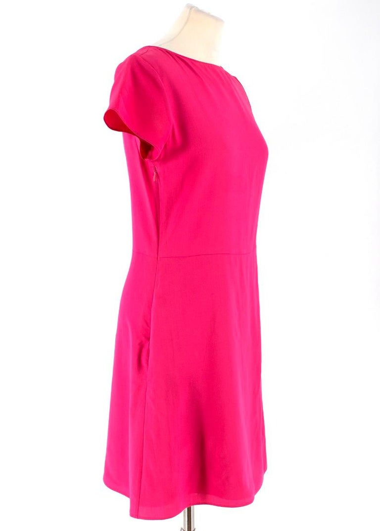 Emporio Armani Cerise Silk Dress US 0-2 For Sale 1