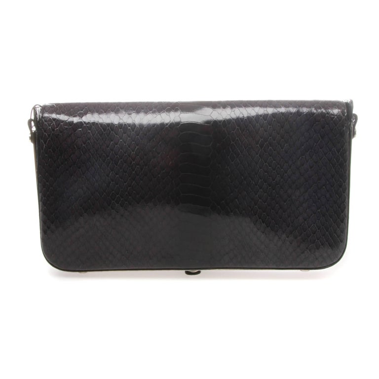 Black Emporio Armani Clutch Shoulder Bag For Sale