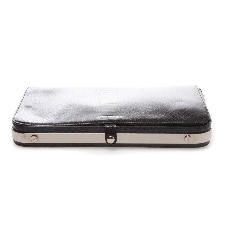 Emporio Armani Clutch Shoulder Bag In Excellent Condition For Sale In Melbourne, Victoria