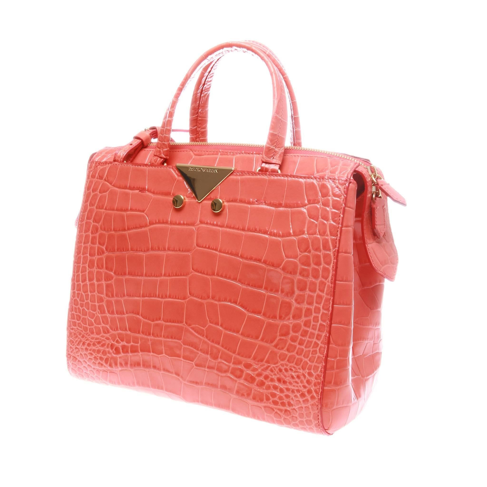 1stdibs Emporio Armani Coral Orange Crocodile Look Shopper tCb6pNYp3Z